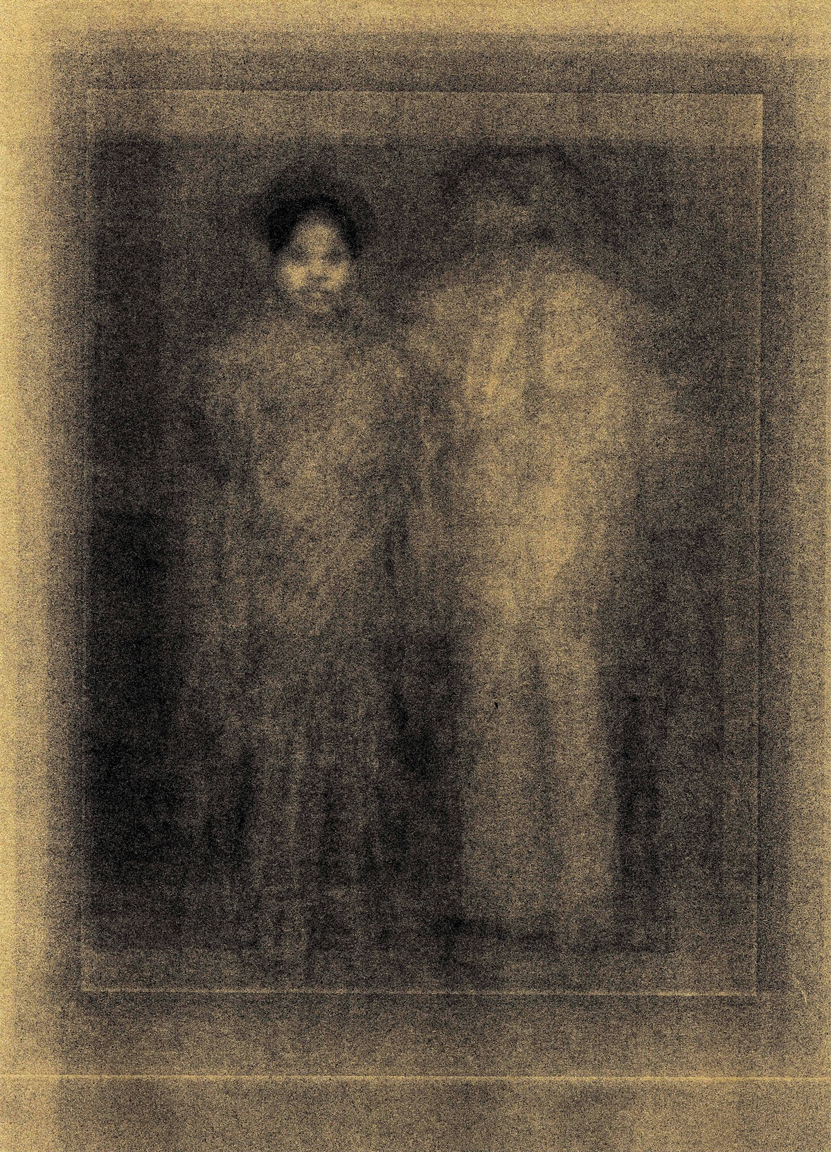 After Image - Couple Standing, a print by Aarati Akkapeddi.