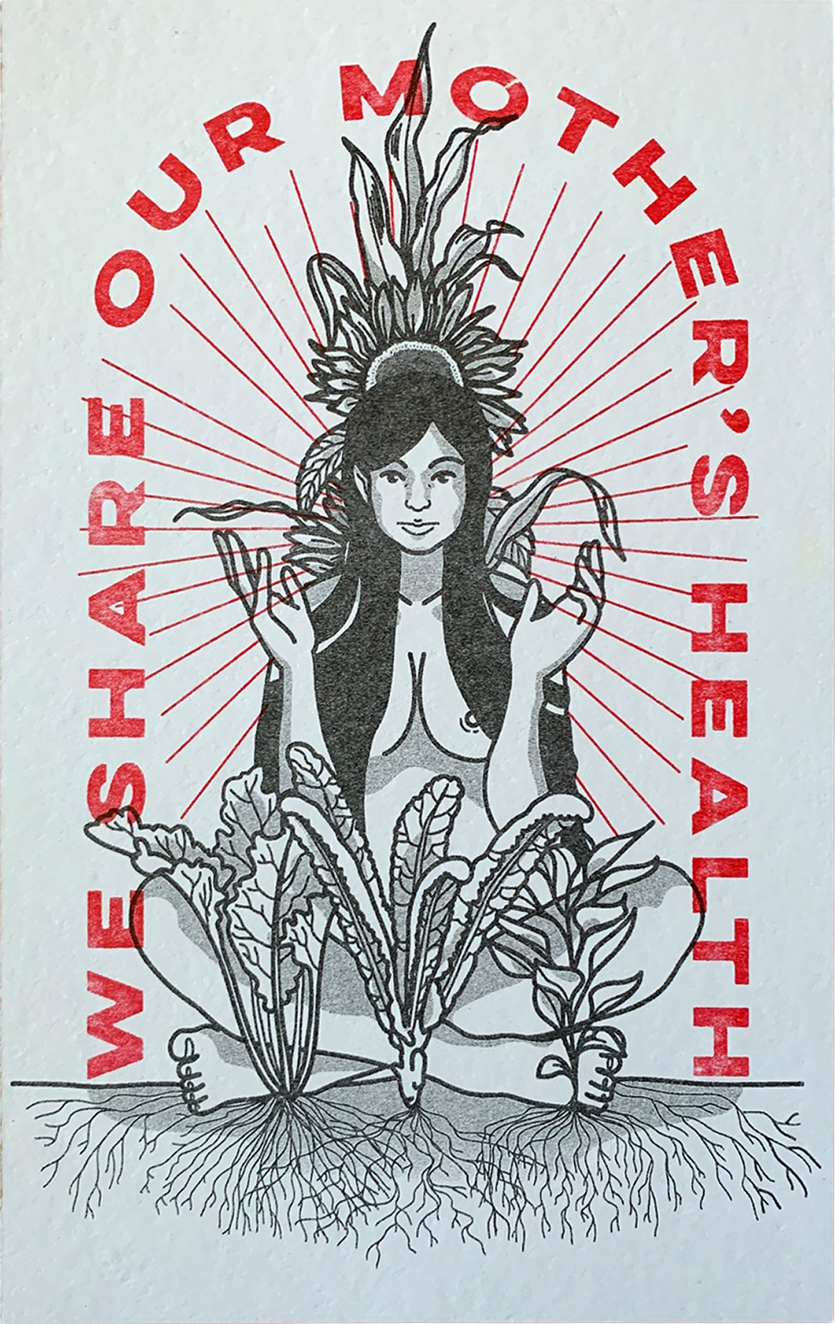 We Share Our Mother's Health, a print by Erica Federhen .